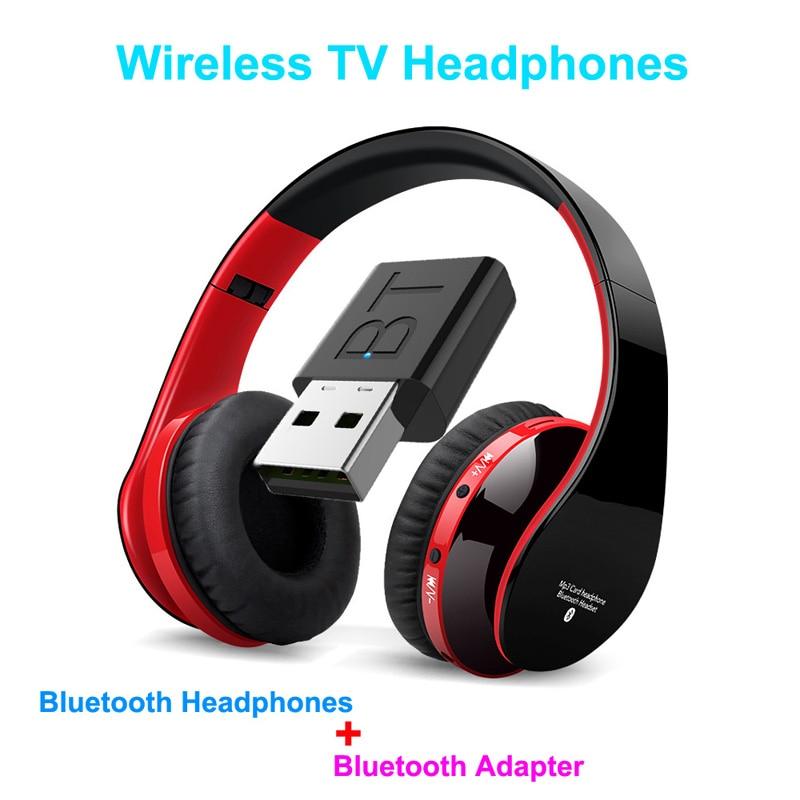 Fone de Ouvido com Fio Fone de Ouvido Fone de com Transmissor Vara para tv Telefones do Computador tv sem Fio Bluetooth Profundo tv Bas