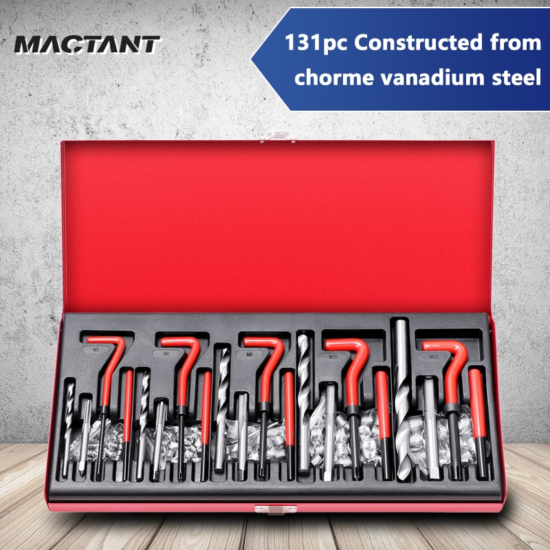 SDANT 131 Pcs 1pc Constructed From Chorme Thread Repairing Tools Set Machine Screw Hole Exchange Kit