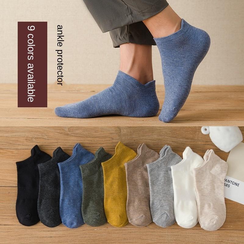 Новый продукт Носки, мужские Носки, тонкие лодочкой Носки, сплошной цвет Дышащие хлопчатобумажные носки Носки, спортивные носки Носки, мужс...