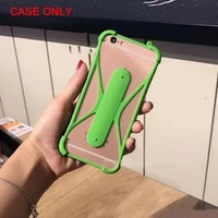 shrapnel bracket multifunctional protective cover universal mobile phone case for 4 3d anti fall soft silicone phone 5 5in b3z8