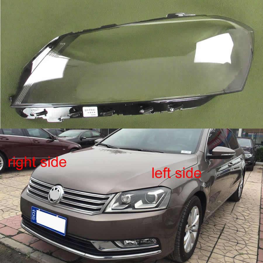 Para volkswagen vw passat b7/magotan b7l, 2012, 2013, 2014, 2015, lanterna frontal, transparente, cobertura de vidro para lente