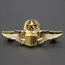 Us AIR FORCE USAF aviateur commandement pilote métal ailes BADGE broche broche or