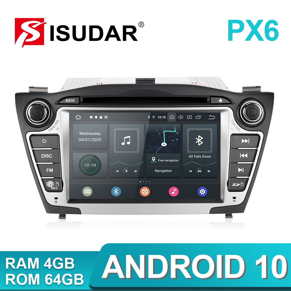 Isudar PX6 2 Din Android 10 Car Multimedia Player GPS For Hyundai/IX35/TUCSON 2009-2015 Canbus Auto Radio USB DVR DVD Player DSP