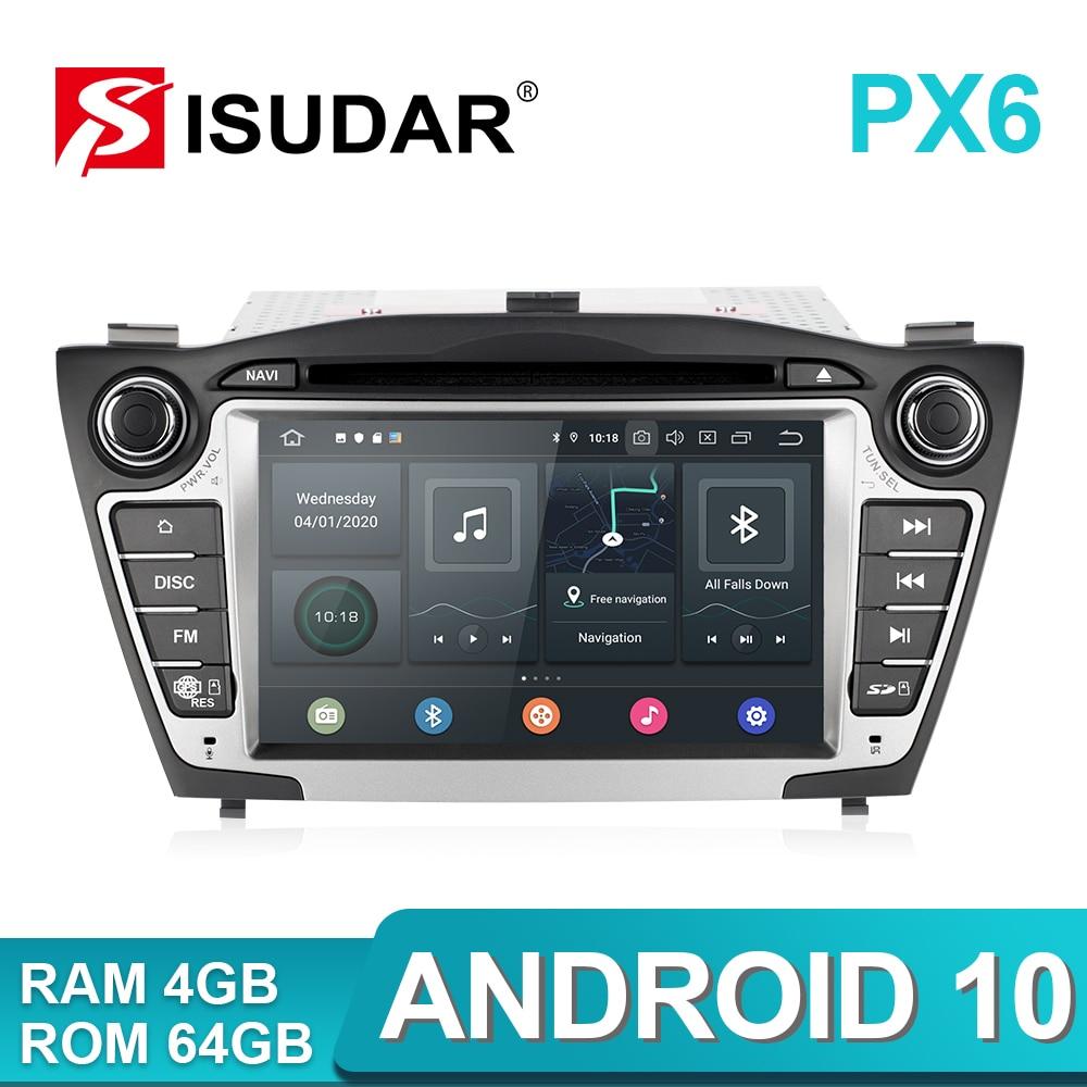 Iسودار PX6 2 الدين أندرويد 10 سيارة مشغل وسائط متعددة لتحديد المواقع لشركة هيونداي/IX35/توكسون 2009-2015 Canbus راديو تلقائي USB DVR مشغل ديفيدي DSP