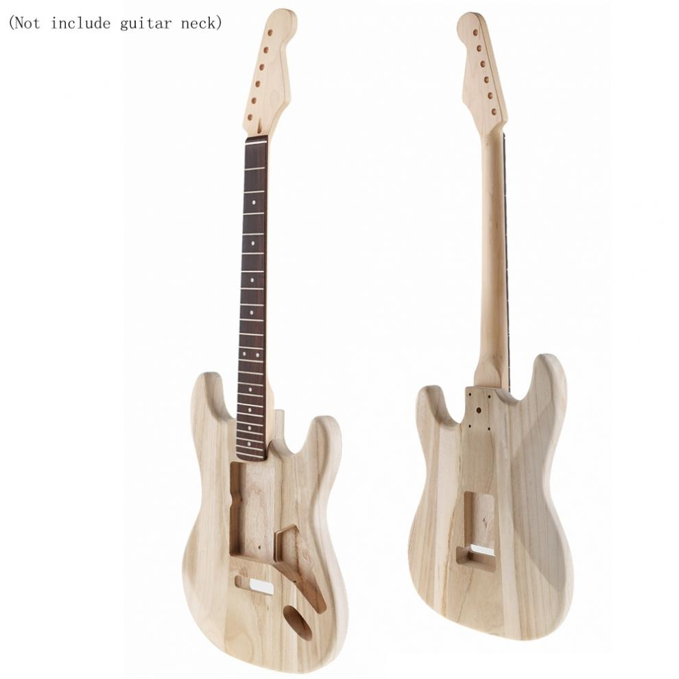 Maple Guitar Barrel Body Already Polished Punched for ST Electric Guitar DIY Accessory Support Painting Guitar Body enlarge