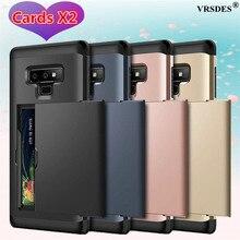 Funda de teléfono Busines para Samsung Galaxy Note 8 9 10 Plus 5G S20 Ultra S10 S9 S8 Plus, carcasa con ranura para tarjeta para Samsung S7 S6 Edge