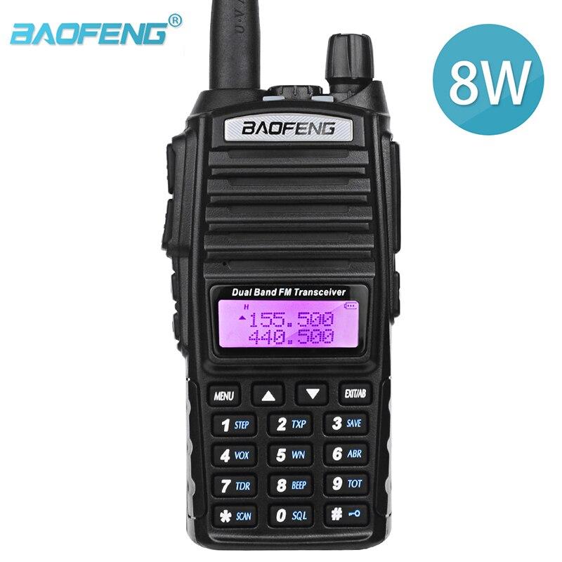 BaoFeng UV 82 Real 8W High Power Dual Band Two Way HAM Radio 136-174mhz (VHF) 400-520mhz (UHF) Amateur (Ham) Portable