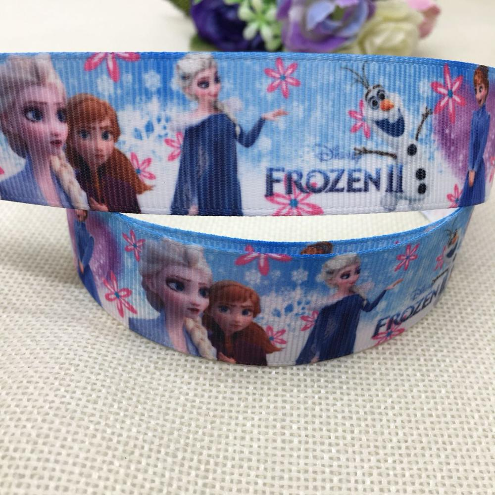 new arrival 1'' (25mm)  princess printed grosgrain ribbons cartoon characters ribbon hair accessories 5yards 89875