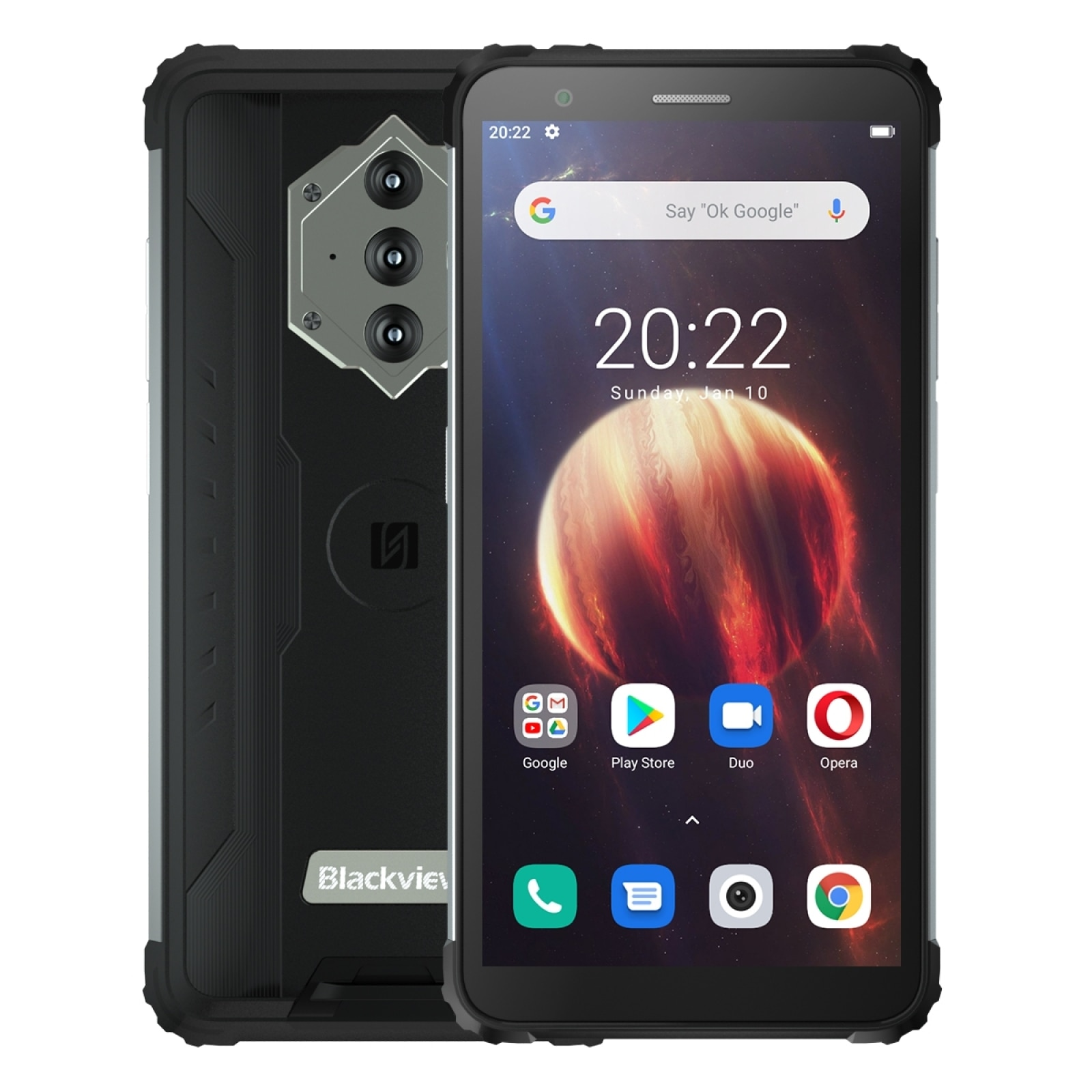 Blackview BV6600 IP68 прочный Водонепроницаемый смартфон 4 + 64 ГБ 5,7 дюйм Экран Helio A25 Octa Core Android 10 NFC 4G мобильный телефон 8580 мАч