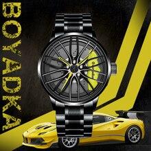 BOYADKA Men Watch Sport  Men's Watches Car Wheel Custom Design Waterproof Rim Hub Wrist Creative Quartz Watch Relogio Masculino