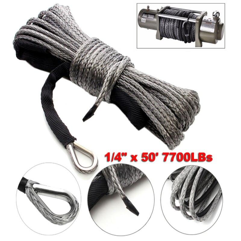 Cable de línea de cuerda para cabrestante, con envoltura de remolque sintético...