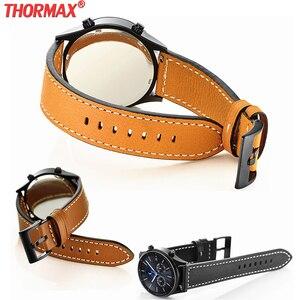 Ремешок из натуральной кожи для Samsung Gear S3 Zenwatch 2/1 Huami AMAZFIT Moto 360 2nd Ticwatch 1, 22 мм
