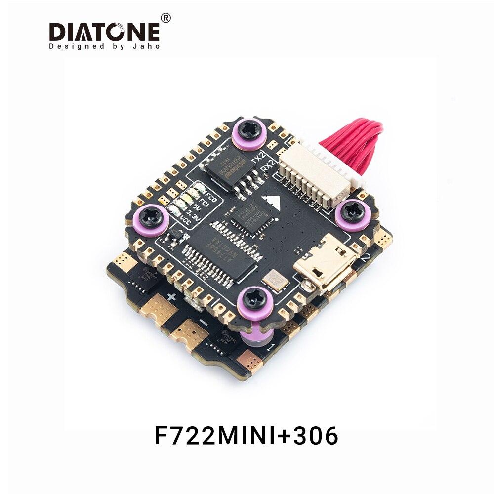 Diatone MAMBA F722 MINI controlador de vuelo Firmware integrado OSD BECBLHeli32 35A ESC 6S 4 en 1 Dshot1200 sin escobillas ESC FC pila f