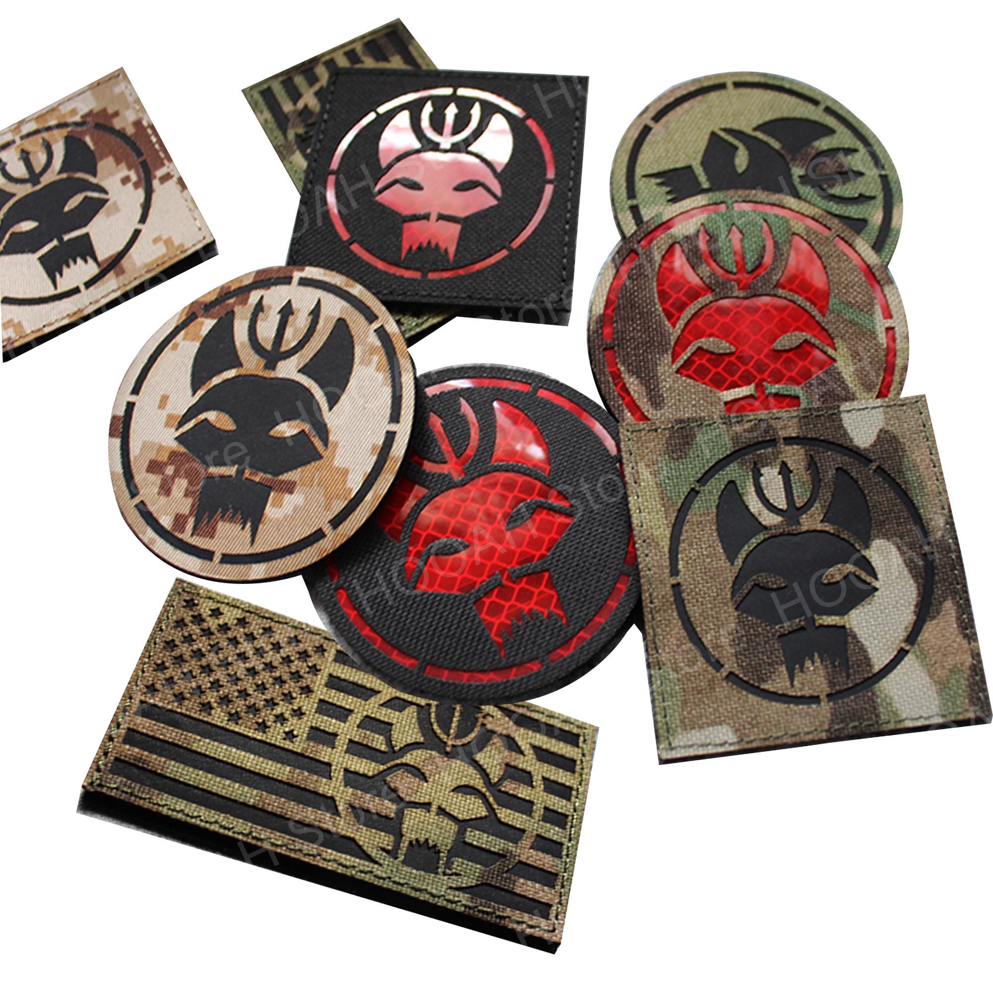 Seal Team parche infrarrojo IR Navy Seals SWAT parches invertidos Multicam militar CP camo parche reflectante insignia gancho/bucle