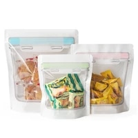 100pcs mason bottle clear plastic zip lock bag stand self seal packaging pouches for food gift snack tea