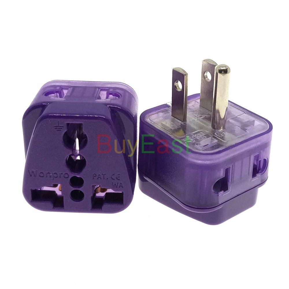 Adaptador de enchufe eléctrico 2 en 1, Universal a EE. UU., Canadá,...