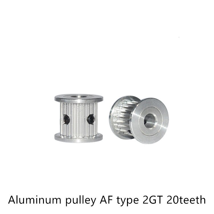 AF type 20 teeth GT2 Timing Pulley Bore 4mm 5mm 6mm for belt used in linear 2GT pulley 20Teeth 20T