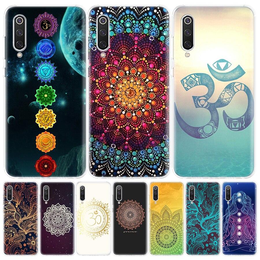 Funda de teléfono para Xiaomi de yoga chakra mandala Redmi 6A 7A 8A note 5 7 8T 9S 10 K20 K30 S2 MI8 9 6x CC9 F1 Lite Pro, funda