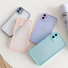 Camera Protection Bumper Phone Cases For iPhone 11 12 11Pro Max XR XS Max X 8 7 6S Plus Matte Transl