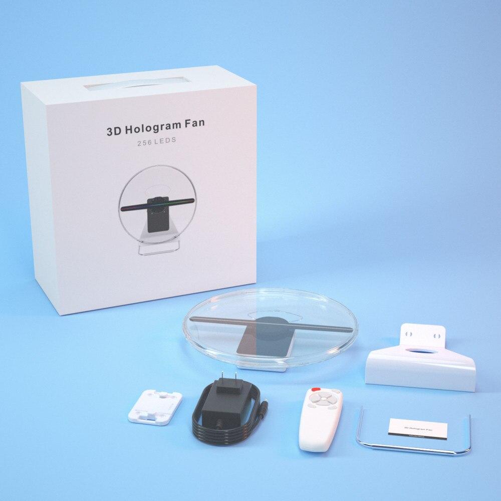3D голограмма вентилятор дисплей проектор портативный Wi-Fi голографический изображение лампа реклама изображение логотип свет голограмма реклама светодиод