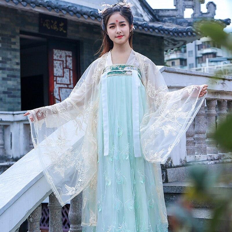 فستان رقص صيني كلاسيكي للنساء ، ملابس أداء رقص هان/تانغ ، فستان أميرة خرافية ، صيفي ، للنساء ، T440