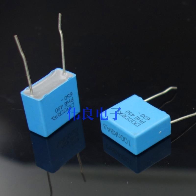 RIFA PHE450 serie 0,1 uF/630 V 10% de película MKP condensador (100nF 104)