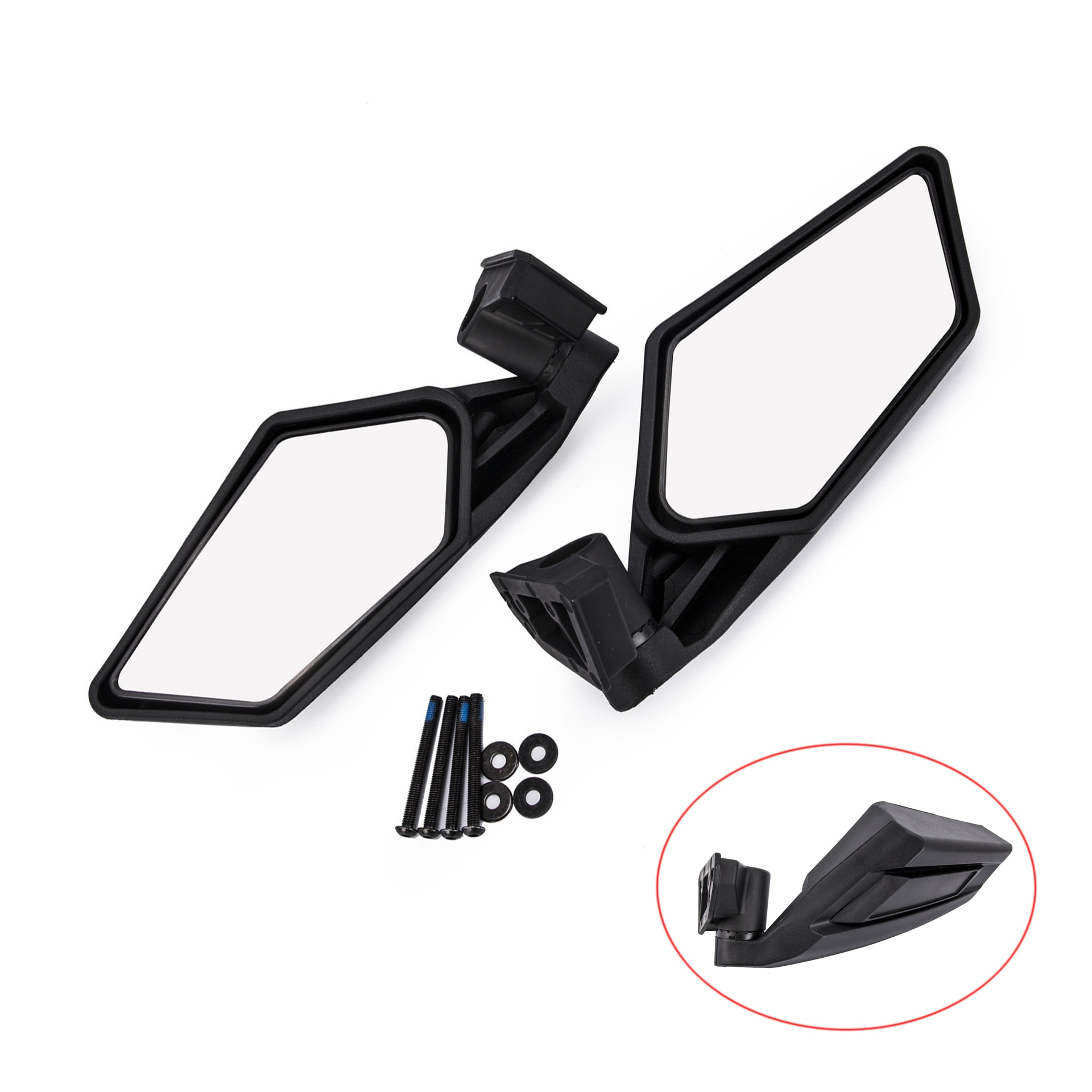 For Suzuki Quadracer 450 2006-2009 For Can Am Maverick X3 2017 2018 Motorcycle Adjustable UTV Rear View Mirrors Rearview mirror