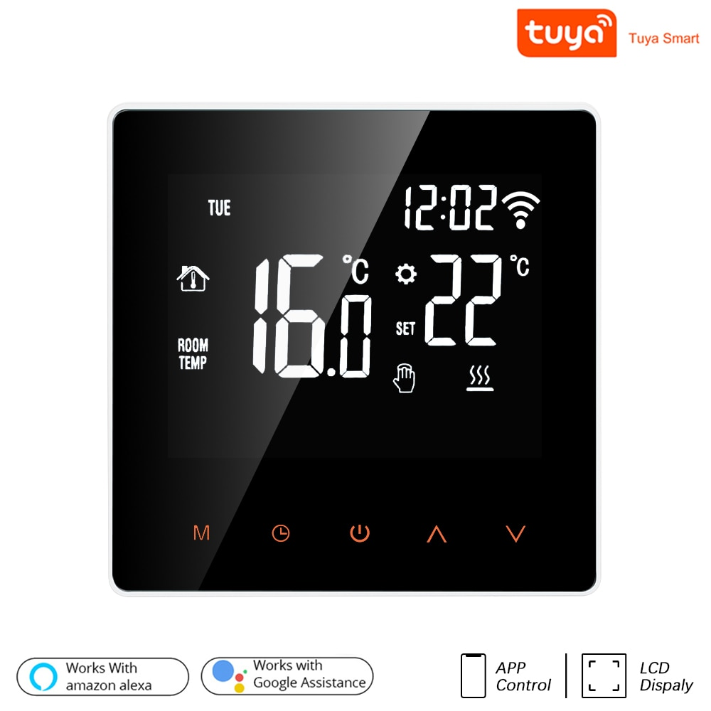 Tuya WiFi Smart Thermostat LCD Display Touch Screen for Electric Floor Heating Water/Gas Boiler Temperature Remote Controller
