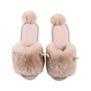 Winter Home Slippers Women's Home Warm Short Plush Non-slip Thick Bottom Shoes Woman Soft Indoor Shoes for Female