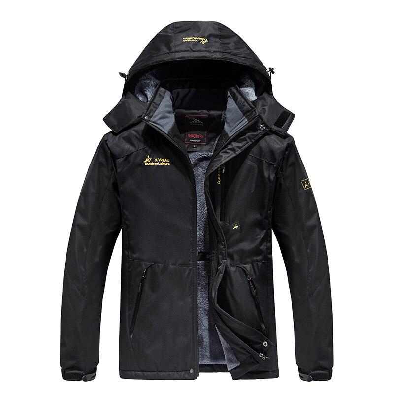 Chaqueta de invierno gruesa a prueba de viento impermeable abrigo de lana para hombres prendas de vestir militares Parka Plus Velvet talla 6XL, 7XL, 8XL abrigo