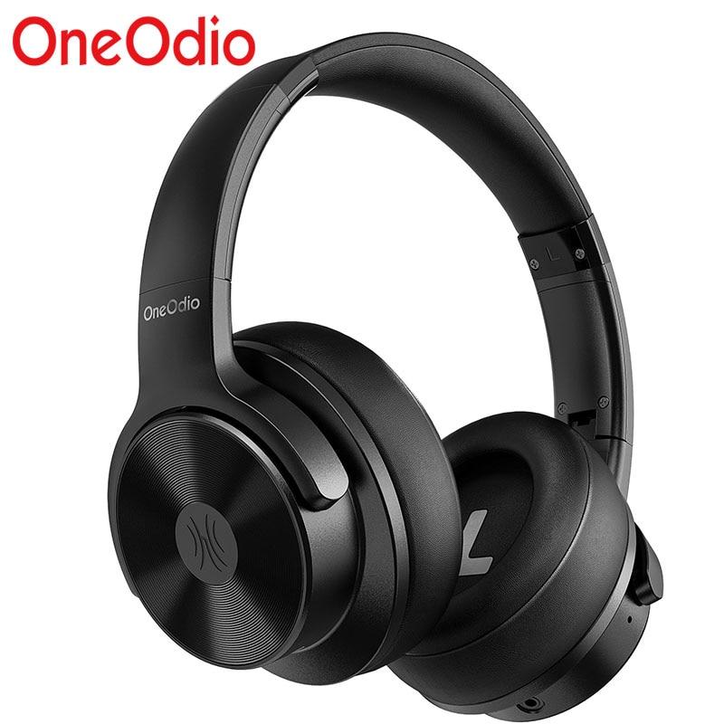 Oneodio A30 الهجين نشط إلغاء الضوضاء سماعة رأس بمايكروفون ، مرحبا الدقة الصوت ، 45H استخدام الوقت سماعات لاسلكية BT5.0