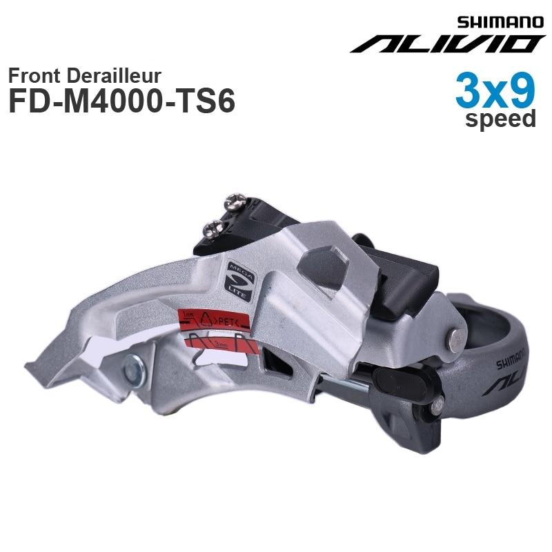 SHIMANO-desviador delantero ALIVIO M4000, 3x9 velocidades, FD-M4000-TS6 oscilante superior/descendente, FD-M4000-DS6 piezas originales...