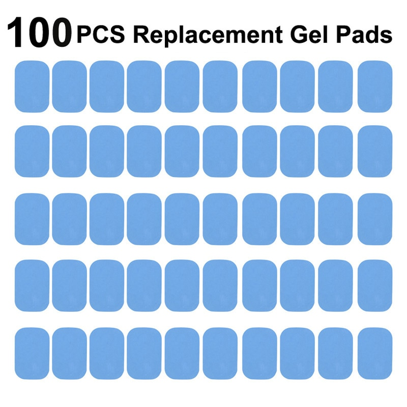 50/100Pcs Replacement Fitness Gel Stickers Hydrogel Pad/Patch For EMS Muscle Training Massager ABS A