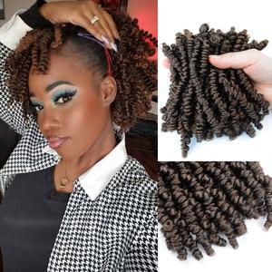 Bob Spring Twist crochet Hair Ombre Colors Synthetic Braiding Hair Extensions Crochet Braids For Black women