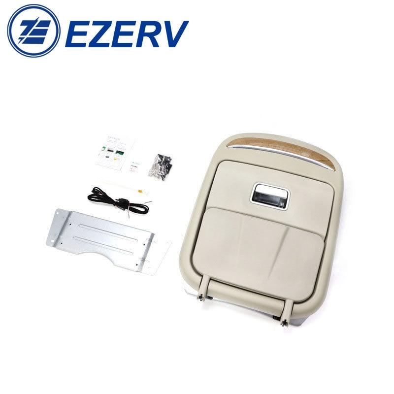 RV Multi function seat rear table stainless steel folding table with Wireless charging atmosphere lamp camper trailer caravan enlarge