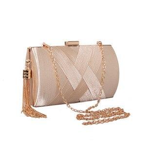Women Handbags Tasser Chain Dinner Package Silk Woven Banquet Evening Dress Bride Dress Hand Bag Tote Bag Designer Bags