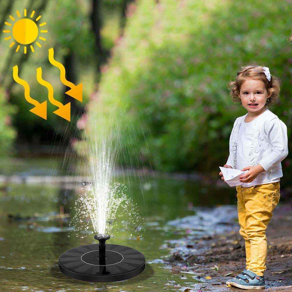Bomba Solar de 1,4 W, bombas de agua de Baño de aves Solar flotantes de pie para jardín, fáciles de instalar y limpiar, respetuosas con el medio ambiente, novedad de 2020