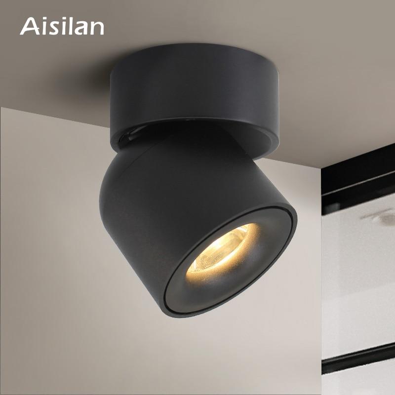 Aisilan Led צמודי תקרת Downlight מתכוונן 90 מעלות נורדי ספוט אור עבור מבואה מקורה, סלון AC 90-260V