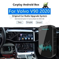 for volvo v90 2020 car multimedia player radio upgrade carplay android apple wireless cp box activator navi map gps mirror link