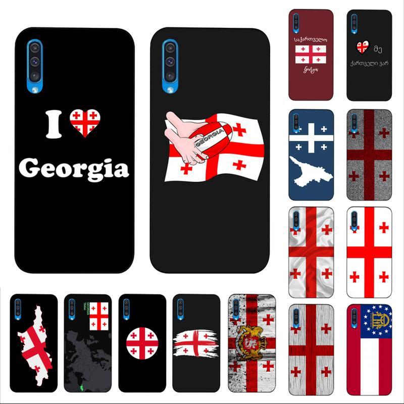 FHNBLJ чехол для телефона с флагом Джорджии для Samsung A30s 51 5 71 70 40 10 20 s 31 A7 A8 2018
