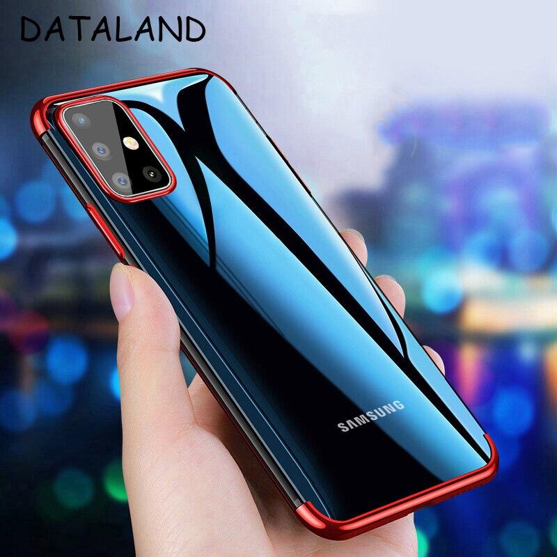 Para Samsung A51 A71 caso cubierta transparente de TPU de silicona suave cubierta posterior para Samsung GalaxyA51 A71 A81 A91 teléfono Copue