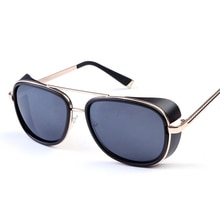 XaYbZc Iron Man 3 Matsuda TONY Stark Sunglasses Men Rossi Coating Retro Vintage Designer Sun glasses