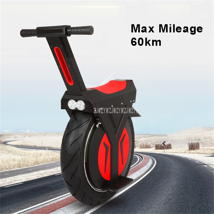 الأميال 60 كجم الكهربائية الدراجة الهوائية الأحادية العجلة عجلة واحدة موازنة الدراجة الهوائية الأحادية العجلة الكهربائية سكوتر الذاتي الرص...