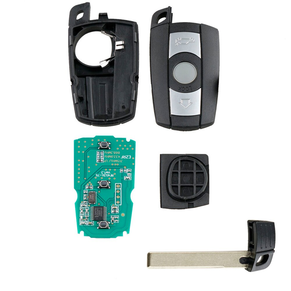 Accessories Car key For BMW 1/3/5 Series CAS3 X5 X6 z4 Auto Black Replacement