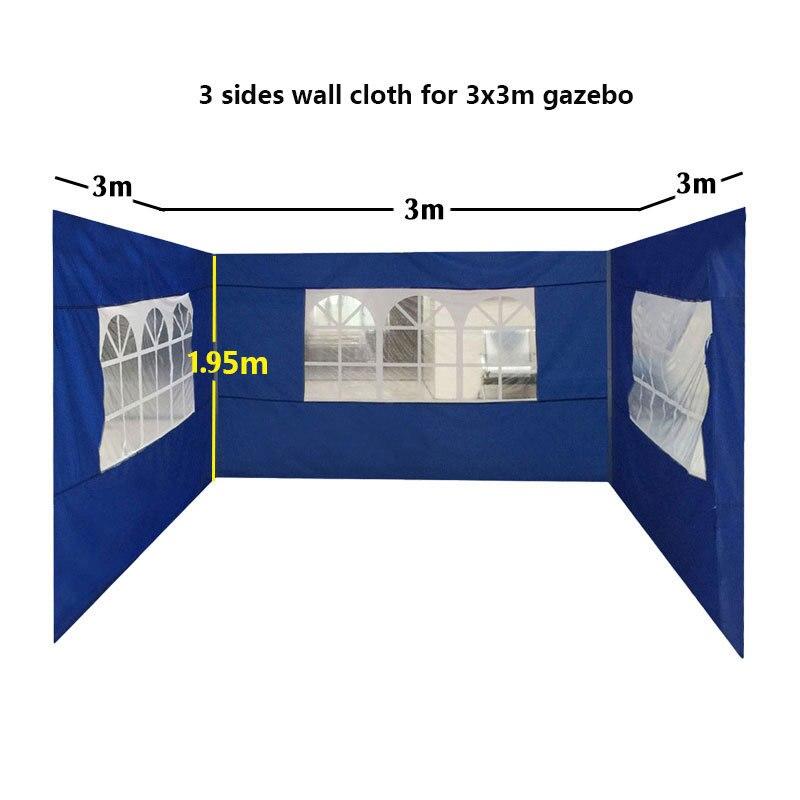 قماش مقاوم للماء المحيطي للحديقة ، 3 م/6 م/9 م/12 م ، 210D ، أحمر أزرق ، خيمة أكسفورد ، واقي من الشمس