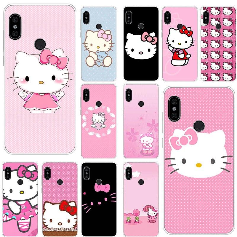 Funda de teléfono para Xiaomi móvil Redmi Note 8 6 7 5 Pro Xiaomi 4 4X 5A funda Rosa bonita Hello Kitty