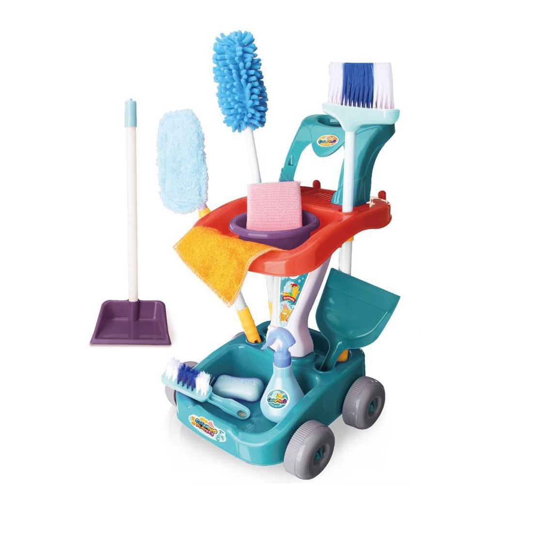 12 pces 11 pces crianças fingir jogar simulação conjunto de limpeza brinquedos cérebro-treinamento brinquedo para crianças brinquedos educativos presente de aniversário