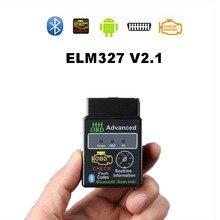 Диагностический сканер HH OBD2 ELM327 V2.1, инструмент для диагностики автомобиля, с поддержкой Bluetooth, для Android