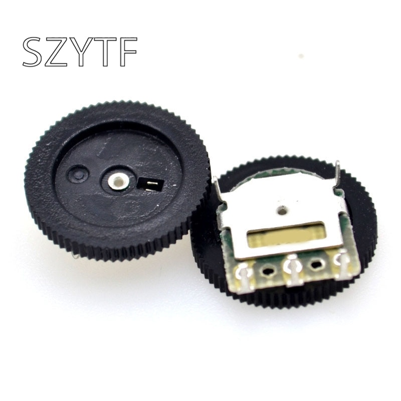 50pcs/bag gear dial potentiometer single joint 3pin 1k 10K 20k (50k 5pin) 16 * 2MM