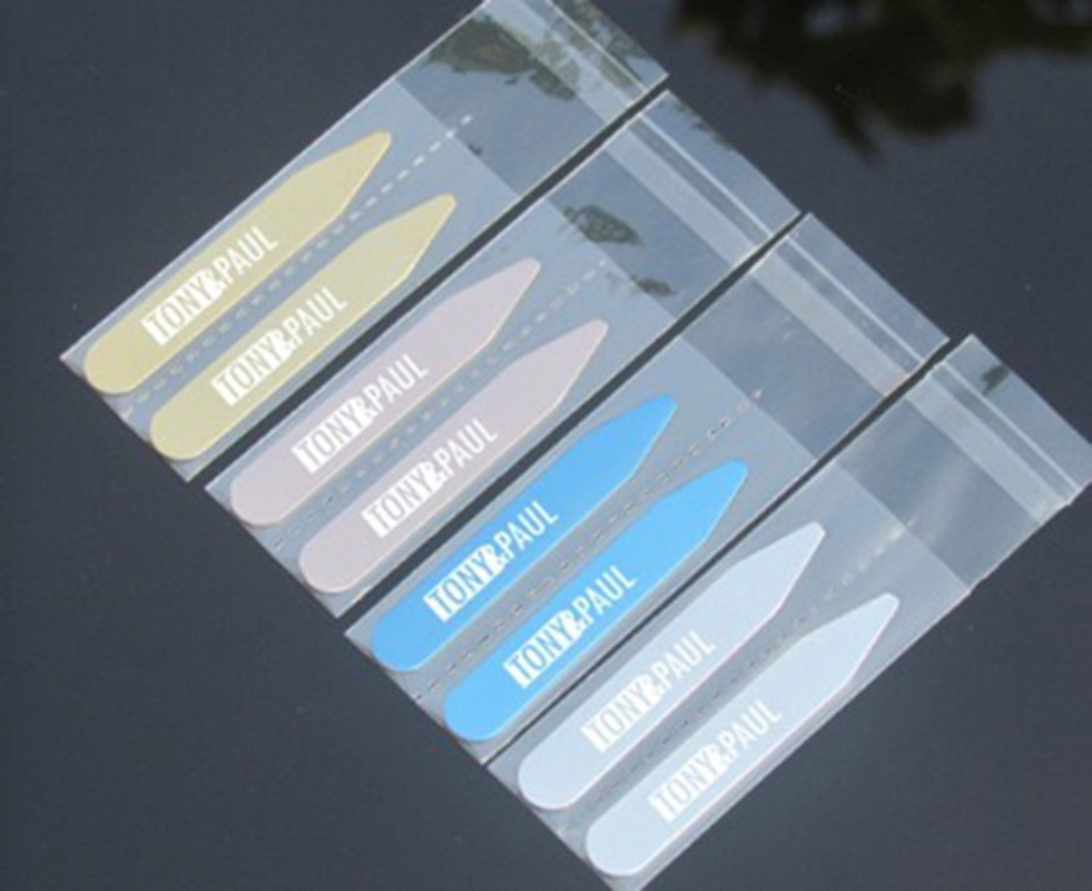 Personalized Stainless Steel Collar Bones Stiffeners Stays For Formal Shirts Custom Engraved name Logo Collar Stays Lettering 200pcs plastic collar stiffeners stays bones set for dress shirt men s gifts clear plastic collar stays 55 x 10 mm